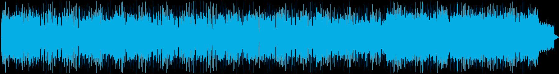 弦楽隊を混ぜた疾走感のあるゲーム系戦闘曲の再生済みの波形