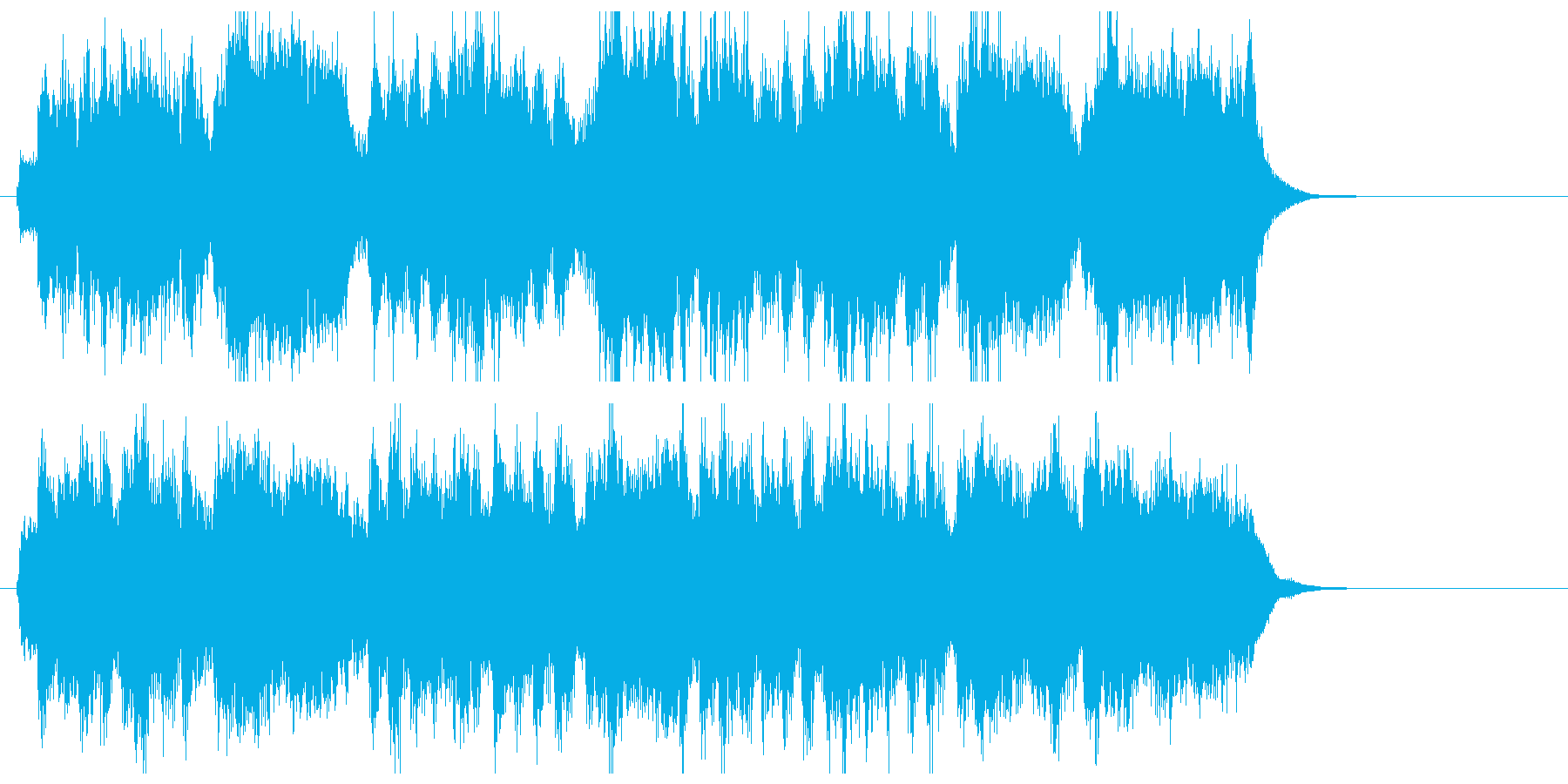 迫力のあるパワフルなラッパ曲の再生済みの波形