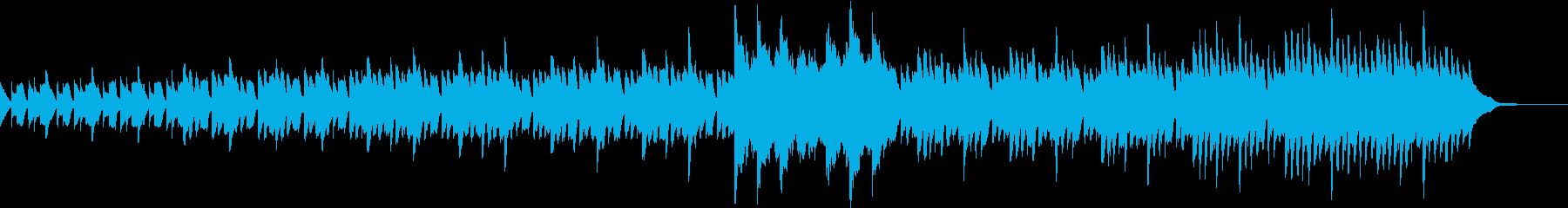 考え中、推理パートなどに使えるピアノ曲の再生済みの波形