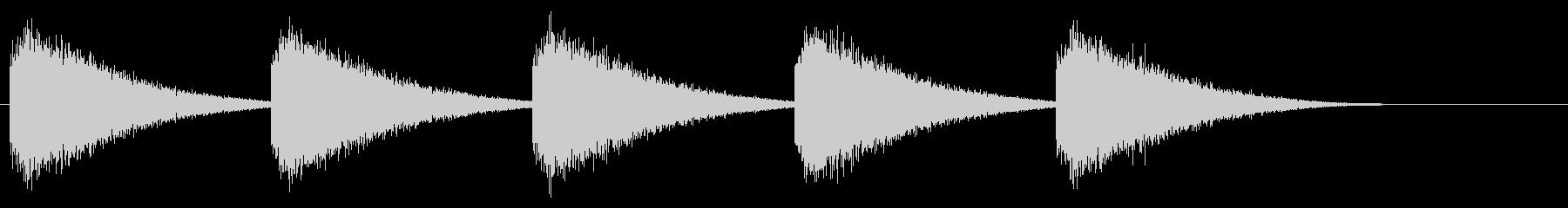 ゴーンゴーン/大時計の鐘/ホラー/ 01の未再生の波形
