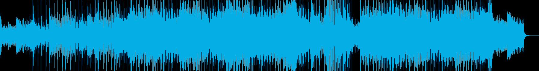 ピアノとシンセが印象的なエレクトロニカの再生済みの波形
