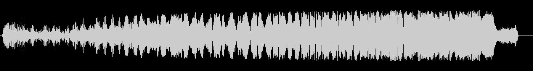 ビュイーン(低音から高音へ上昇する感じ)の未再生の波形