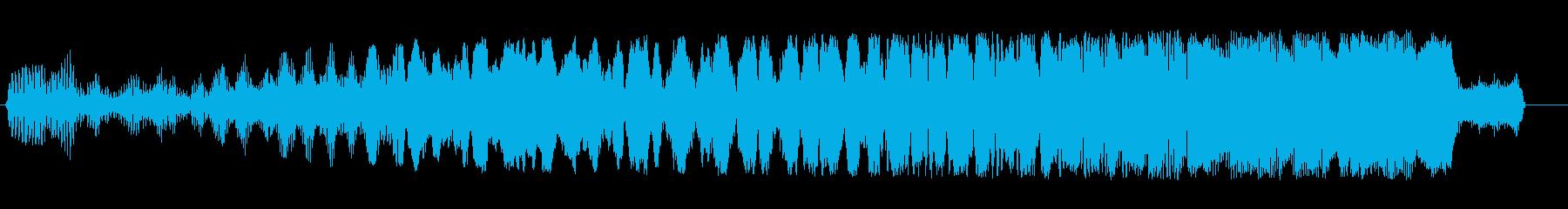 ビュイーン(低音から高音へ上昇する感じ)の再生済みの波形