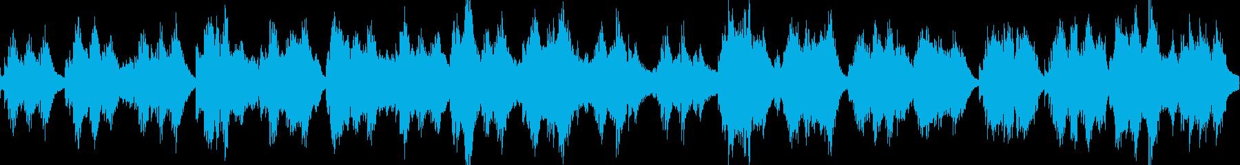不気味で神秘的な森をイメージした暗い曲の再生済みの波形