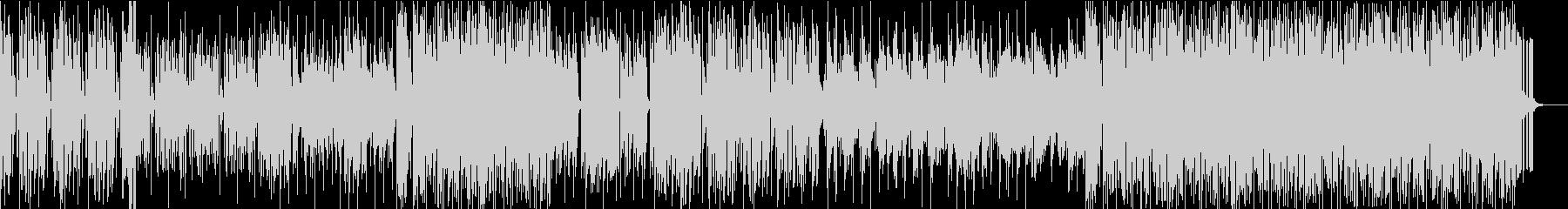 シンセを主体としたテクノポップBGMの未再生の波形