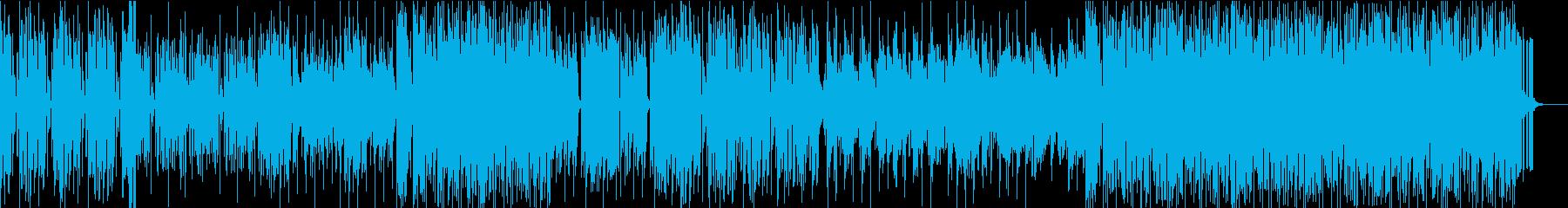 シンセを主体としたテクノポップBGMの再生済みの波形