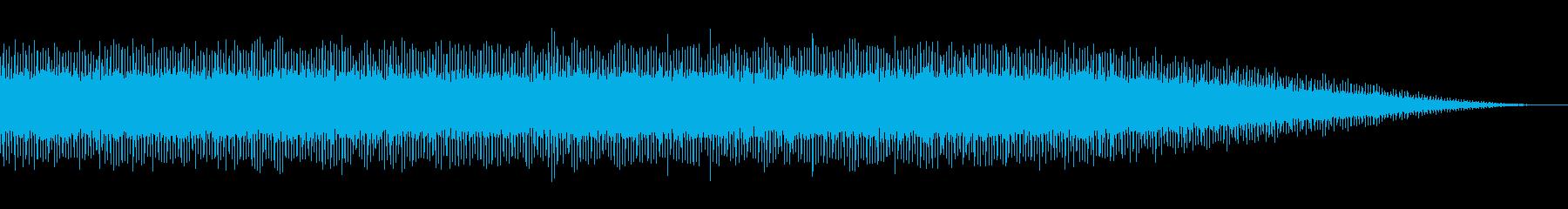 ケタケタ、ブッブッ…いろいろな音の再生済みの波形