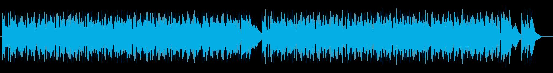 優しく柔らかいミュージックの再生済みの波形