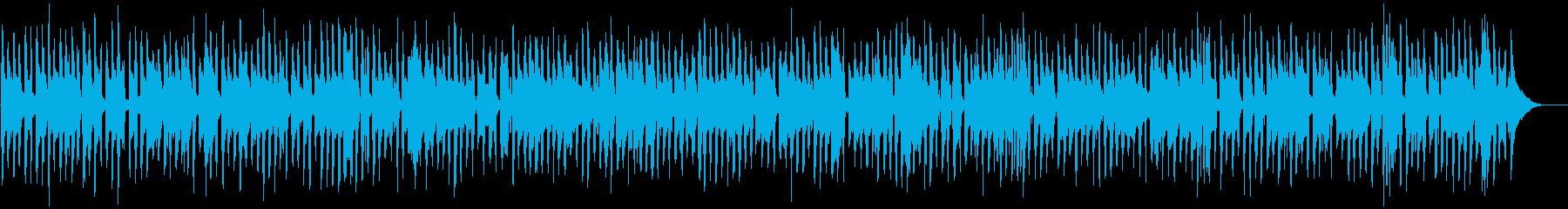 ほんわかコミカルなアコーディオンの再生済みの波形