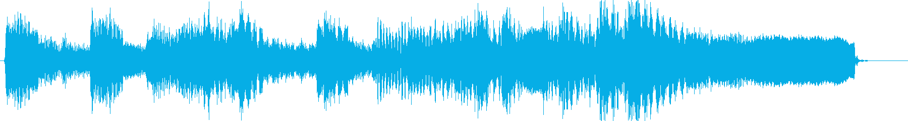 和風琴尺八で勢いのある戦国風のジングルの再生済みの波形