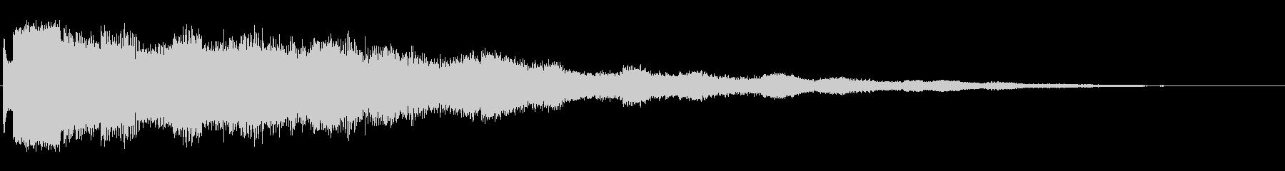 ビープスクランブル、ミディアムの未再生の波形