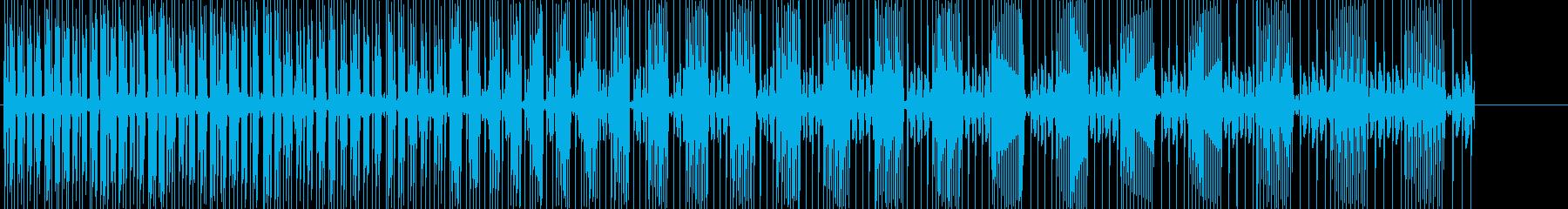 パワーダウンの音です。の再生済みの波形