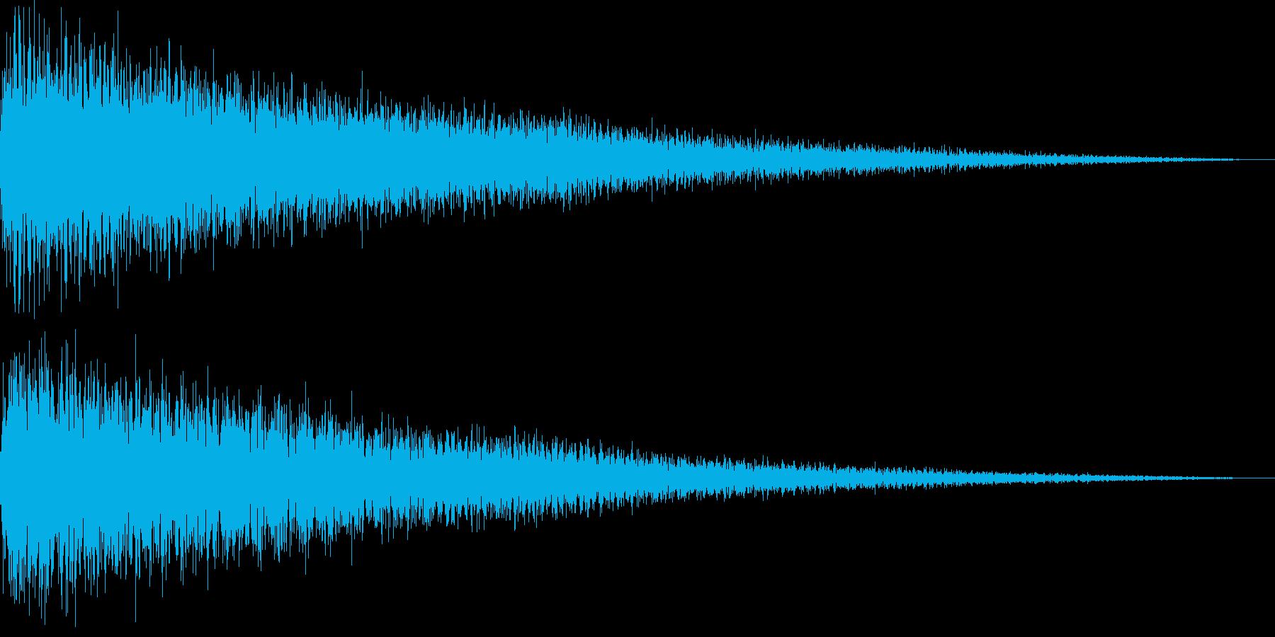 【ガーン】ピアノの低い音の再生済みの波形