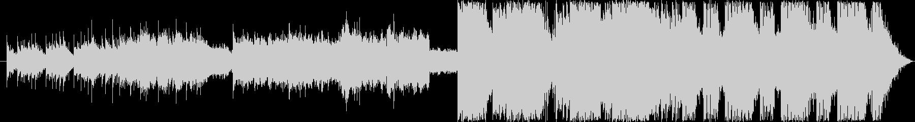 ダークでサイバーな映像的なBGMの未再生の波形