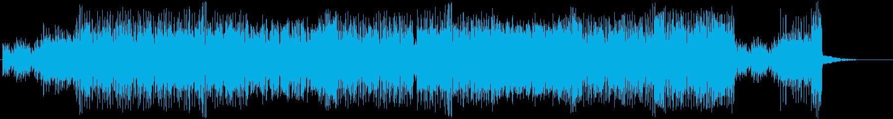 シンセサイザーのカラフルで楽しいポップスの再生済みの波形