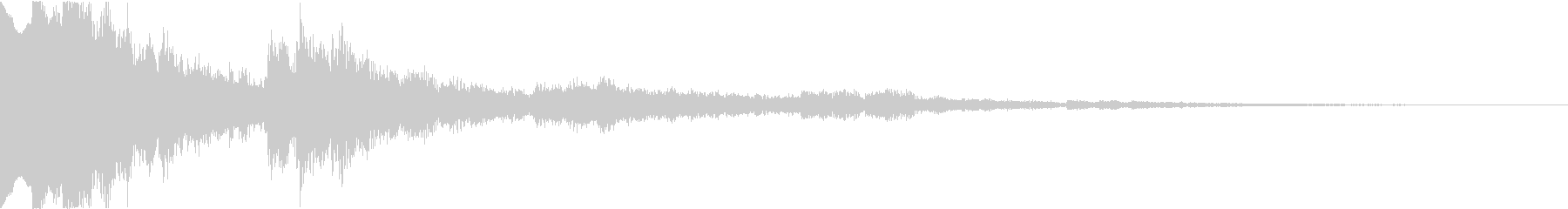 クリスタルな響きのテロップ音の未再生の波形
