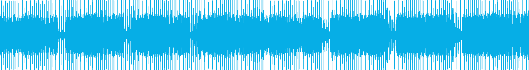 Loop仕様のテクノミュージックの再生済みの波形