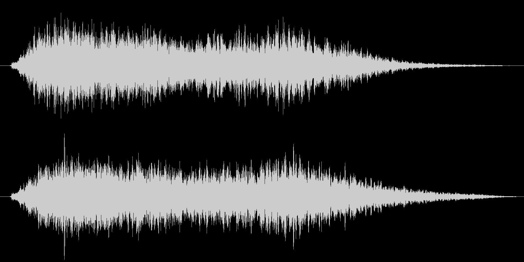 ふわふわした雰囲気のヒーリングBGMの未再生の波形