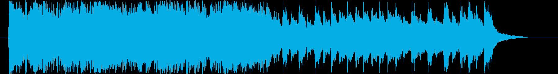 幼児、家族向けCMのbgmの再生済みの波形