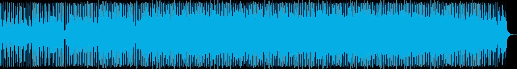 浮遊感ある重厚なテクノ音の再生済みの波形