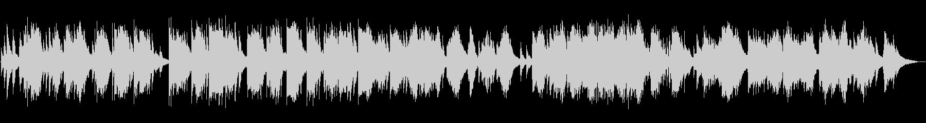 静かな夜、夜明けのイメージのピアノソロの未再生の波形