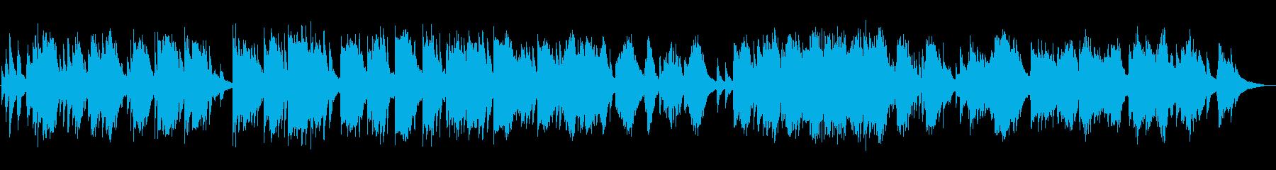 静かな夜、夜明けのイメージのピアノソロの再生済みの波形