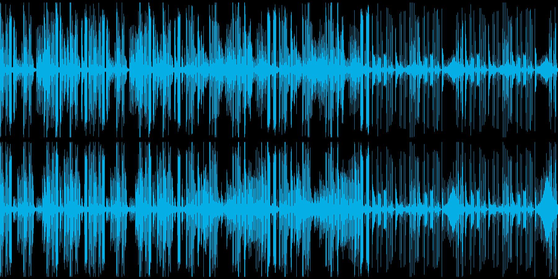 機械的で怪しげな曲の再生済みの波形