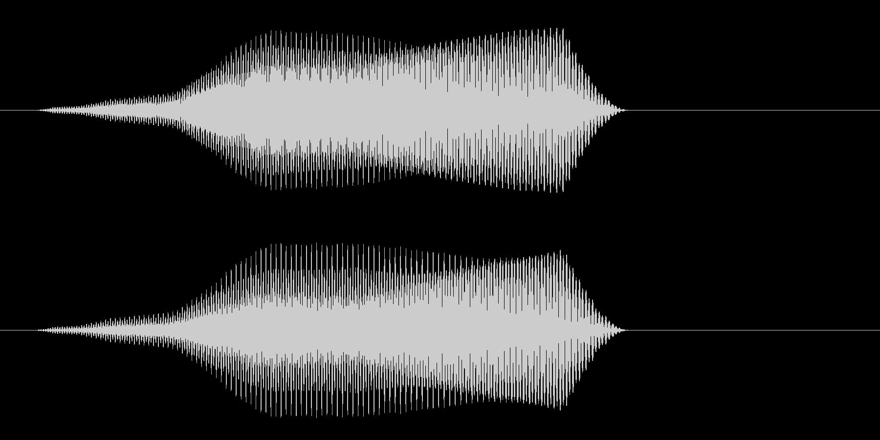 鳴き声をイメージする効果音の未再生の波形