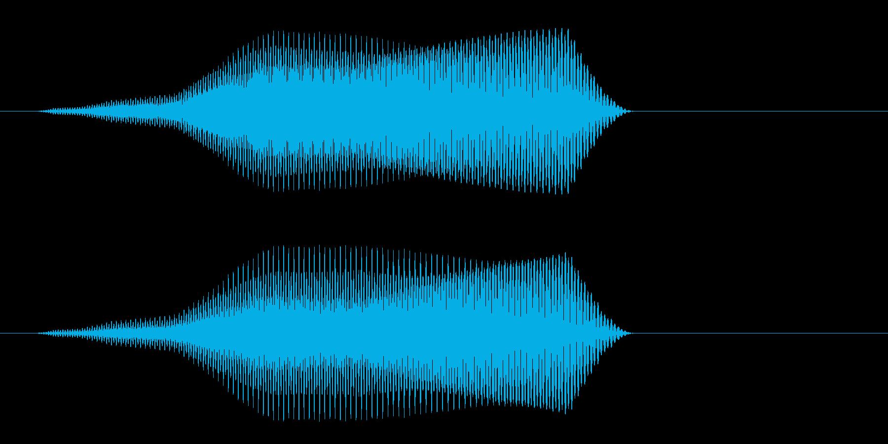 鳴き声をイメージする効果音の再生済みの波形