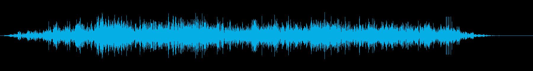 重い石のスライドの再生済みの波形