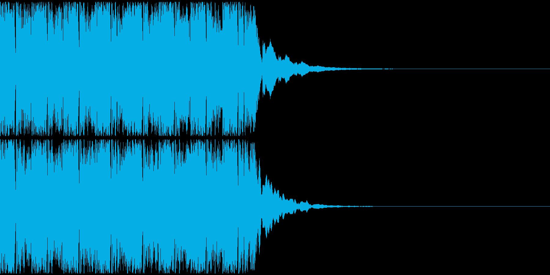 【アンビエント】ロング1、ショート3の再生済みの波形