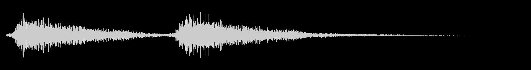 オケヒの効果音の未再生の波形