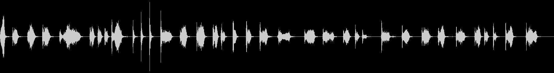 スイープフロア:通常。の未再生の波形