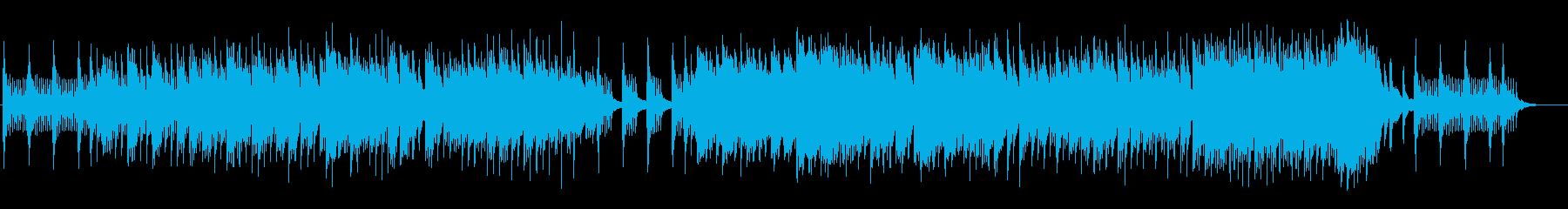 雪の結晶の煌めきを表現したピアノ独奏曲の再生済みの波形