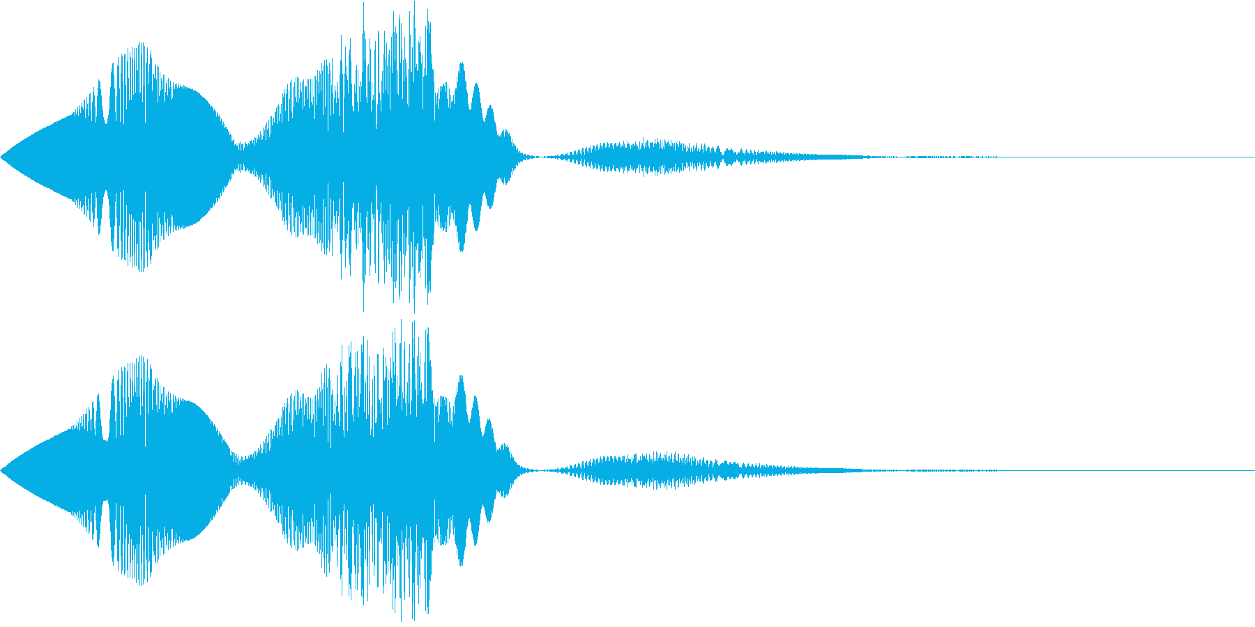 コミカルな動画制作用の効果音_ぴよぴよの再生済みの波形