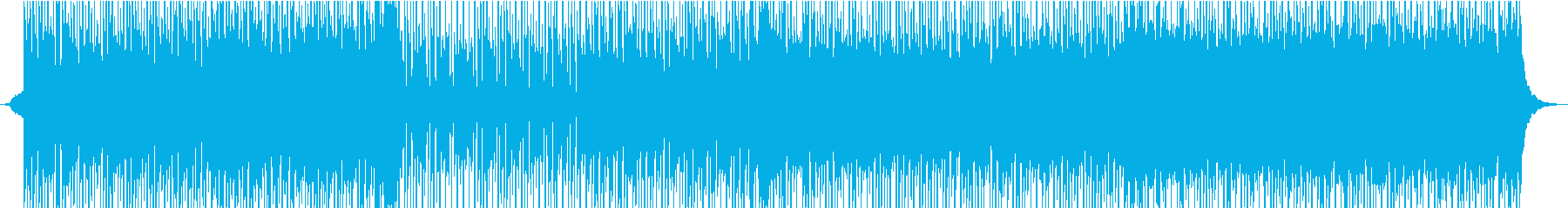 エネルギッシュなハイブリッドトラックの再生済みの波形