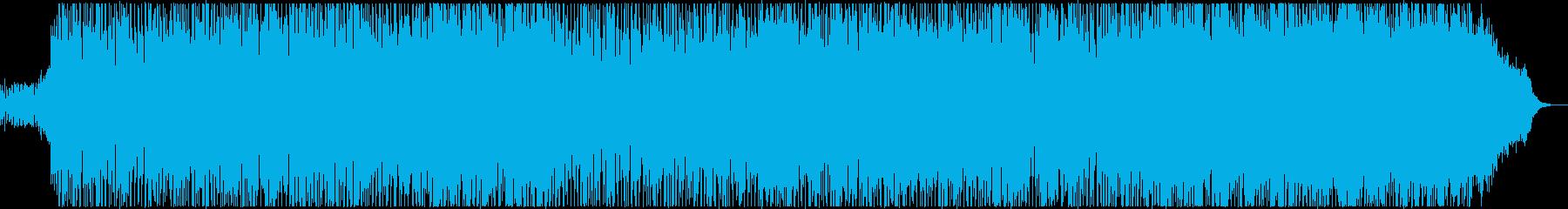 フュージョン風のノリの良いテクノポップの再生済みの波形