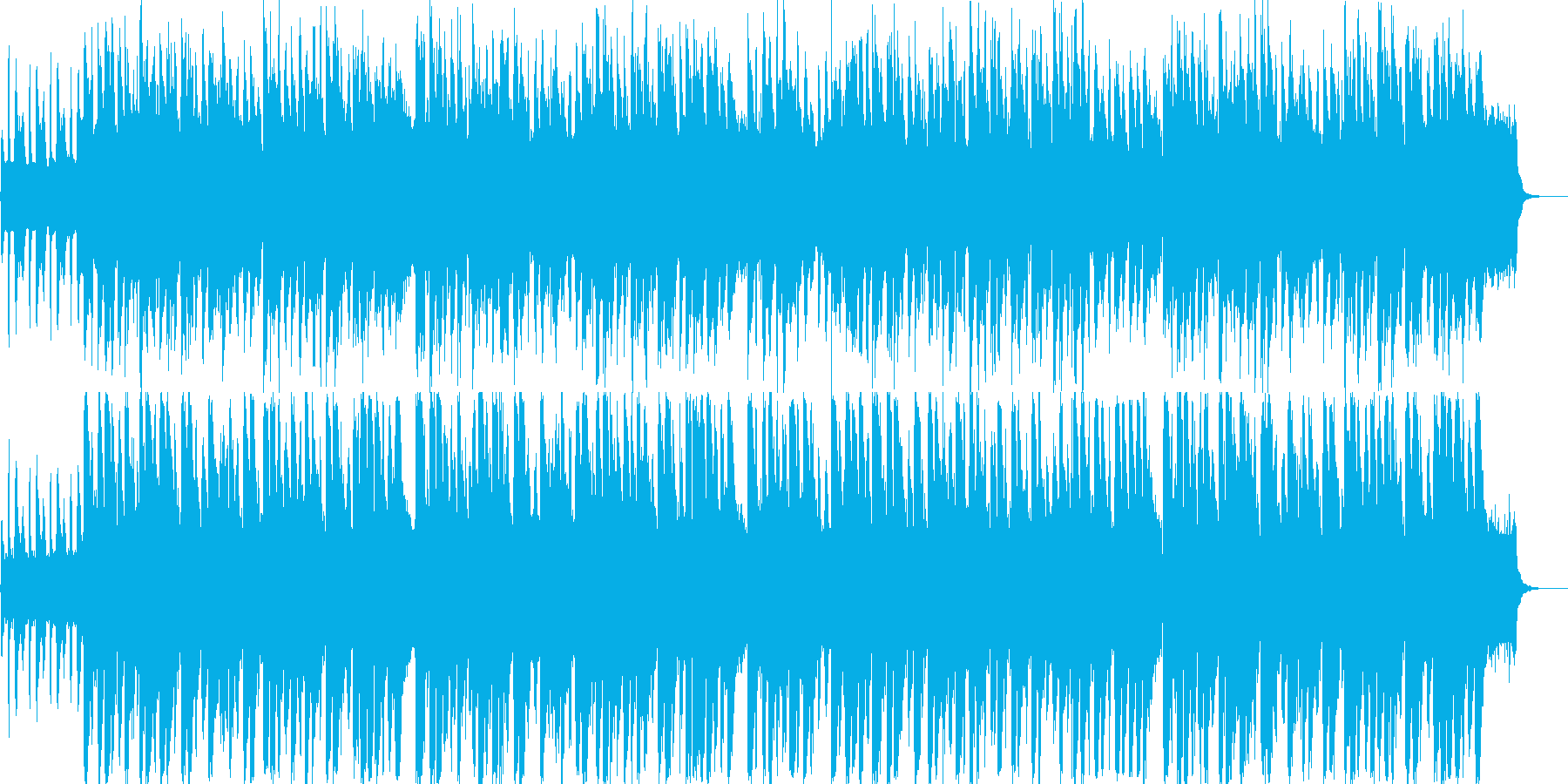 アコーディオンのほのぼの系ワルツの再生済みの波形