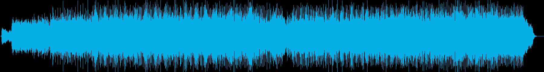 明るくキラキラ感のあるシンセサウンドの再生済みの波形