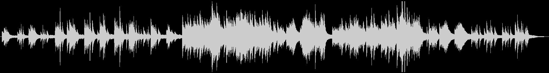 ソロピアノの伝統的クリスマス・キャロルの未再生の波形
