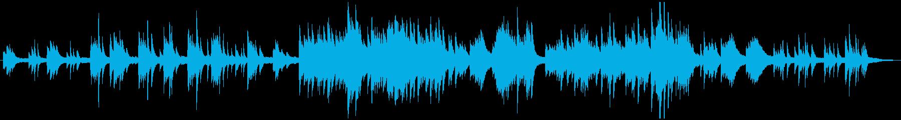 ソロピアノの伝統的クリスマス・キャロルの再生済みの波形