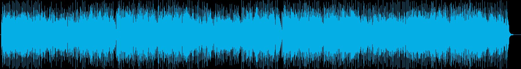 爽やかで軽快なミュージックの再生済みの波形