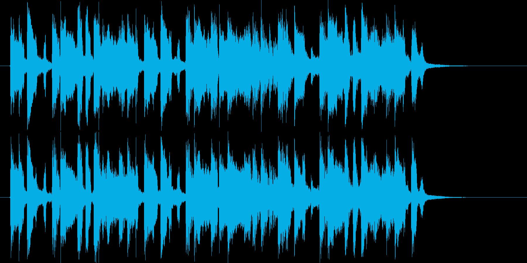 アップテンポでかわいい音楽の再生済みの波形