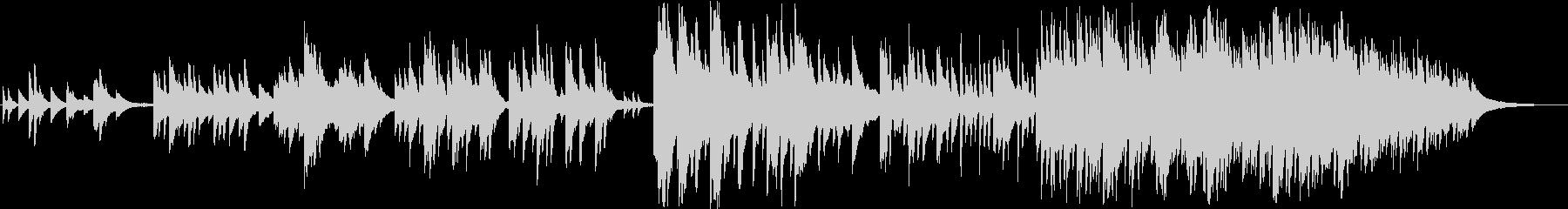 切なく幻想的なイメージのピアノ曲の未再生の波形