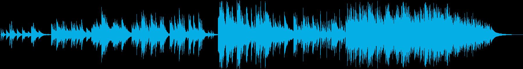切なく幻想的なイメージのピアノ曲の再生済みの波形