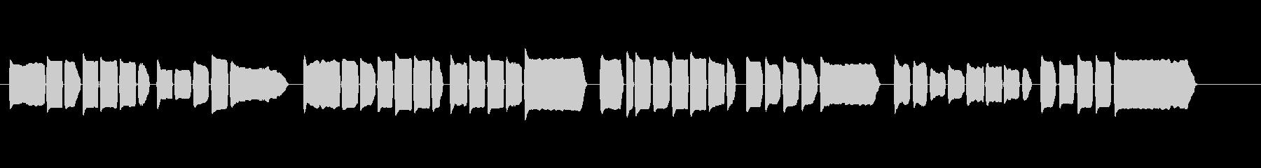 童謡「夕焼け小焼け」リコーダー・ソロの未再生の波形