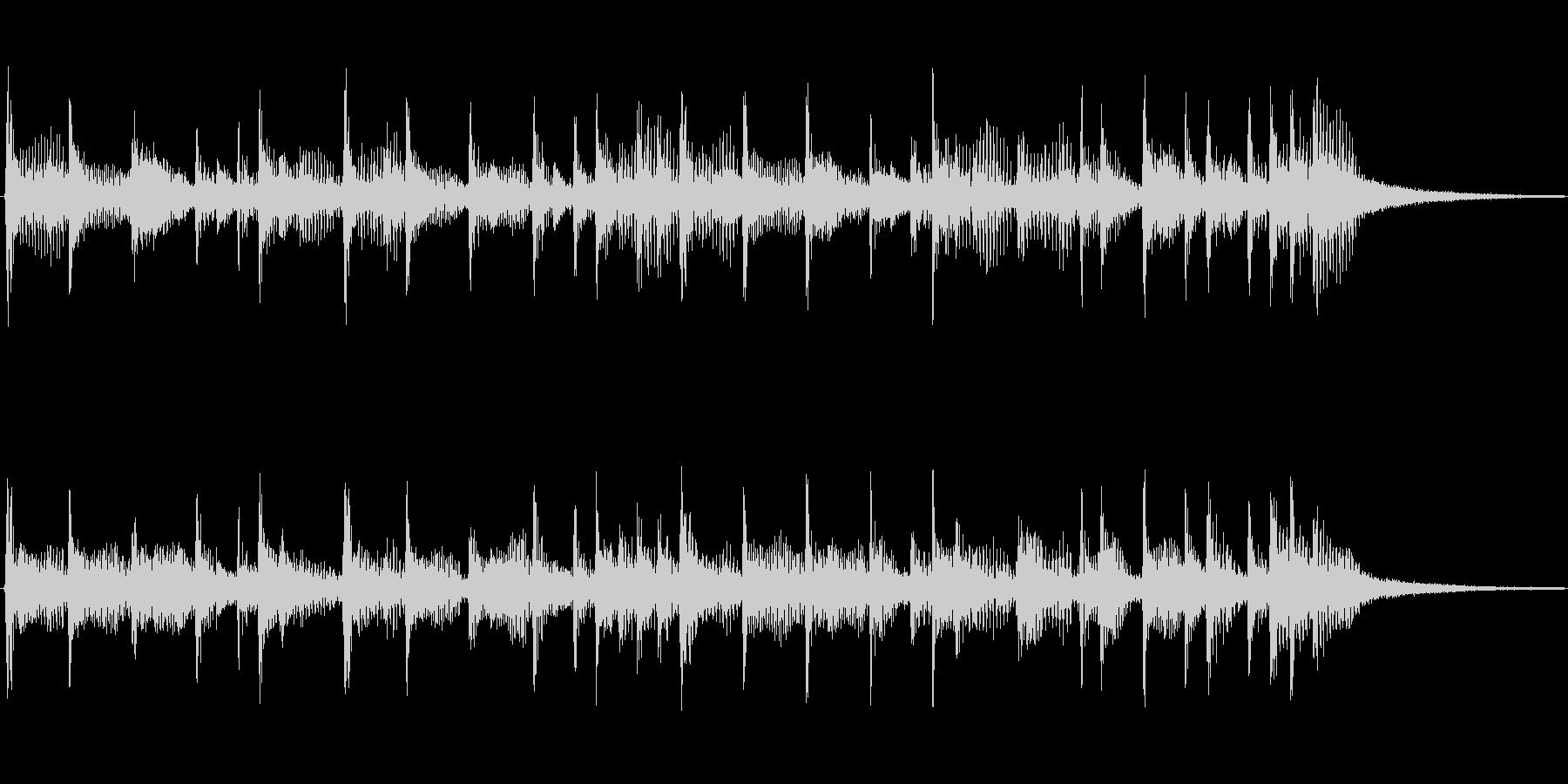 シンプルに下降するフュージョンジングルの未再生の波形