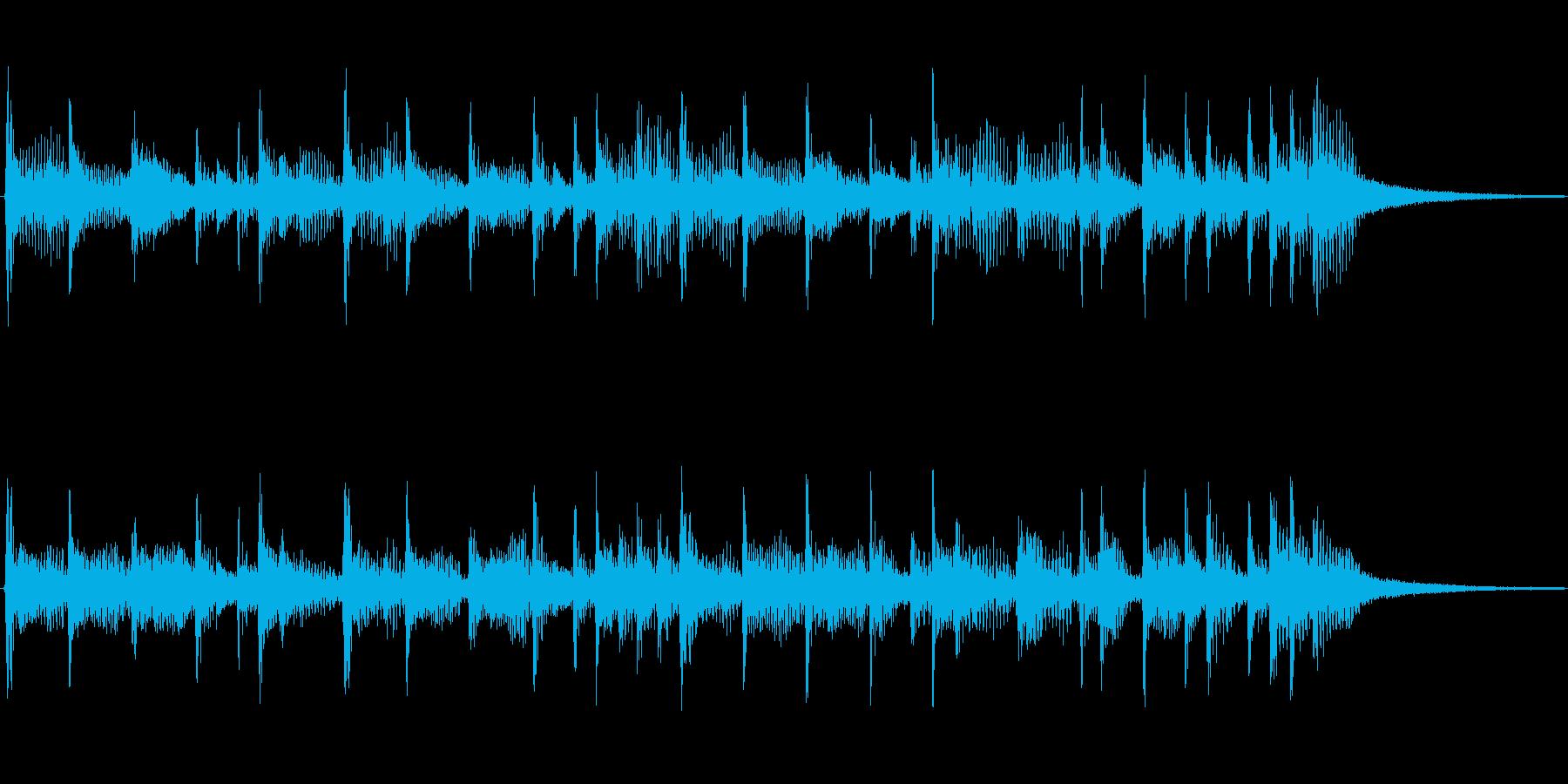 シンプルに下降するフュージョンジングルの再生済みの波形
