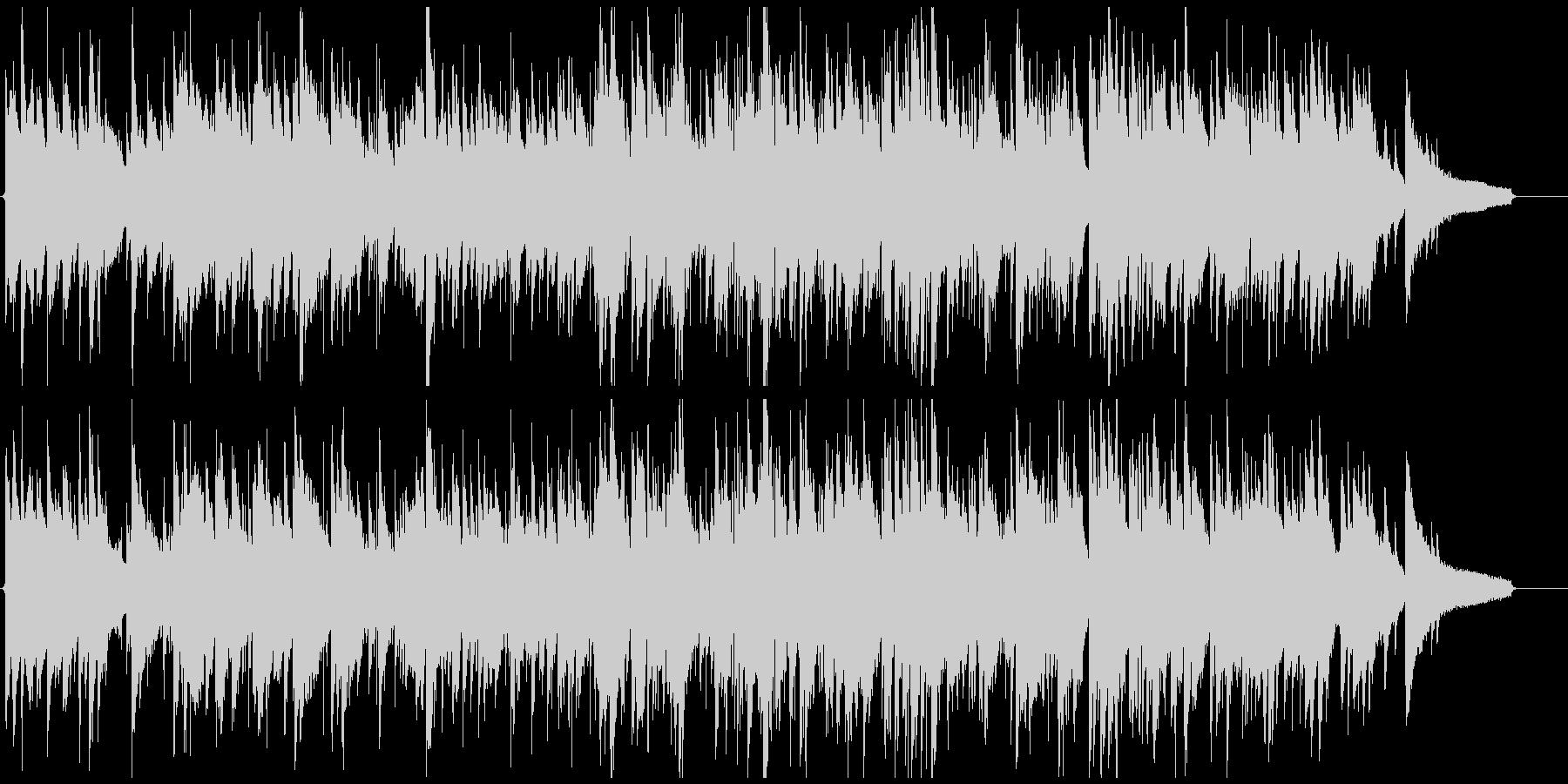 凛々しい音色のサックス、綺麗系ジャズの未再生の波形