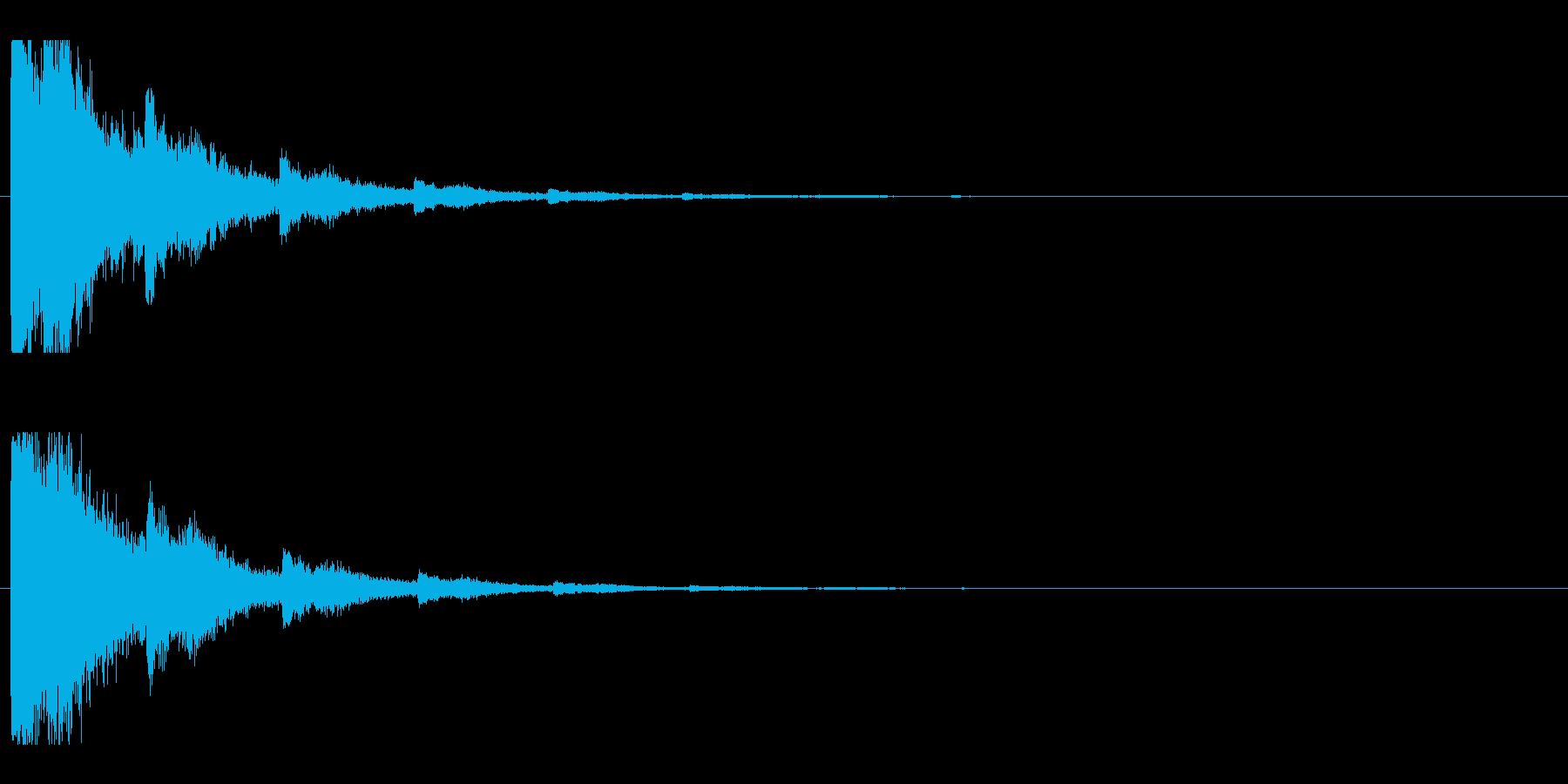 レーザー音-04-2の再生済みの波形